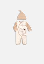 MINOTI - Sleepsuit & hat set - cream