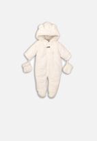 MINOTI - Faux fur snowsuit - cream