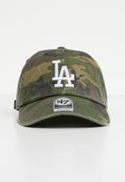47 Brand - 47 Clean up adjustable strapback - LA Dodgers - khaki & brown