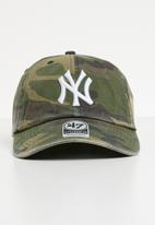 47 Brand - 47 Clean up adjustable strapback - NY Yankees - khaki & brown