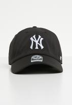 47 Brand - 47 Cleanup unstructured velcro strapback- NY Yankees - black