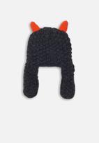 MINOTI - Boys mixed yarn face detailed hat - navy
