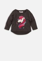MINOTI - Baby girls long sleeve top - charcoal