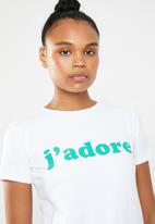 STYLE REPUBLIC - J'adore T-shirt - white