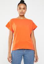 STYLE REPUBLIC - Boxy dropped shoulder T-shirt - orange
