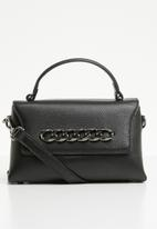 STYLE REPUBLIC - Leather chain detail tote - black