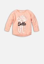 MINOTI - Baby girls long sleeve top - pink