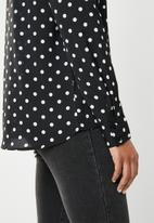 dailyfriday - Printed blouse - black