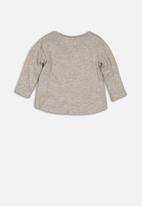MINOTI - Baby girls long sleeve top - grey