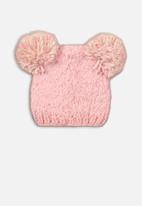 MINOTI - Knitted hat - pink & cream