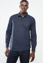 STYLE REPUBLIC - Pyramid print shirt - navy