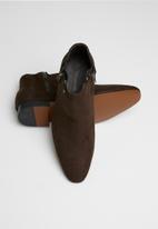 MAZERATA - Nanni 27 mock suede chelsea boots - brown