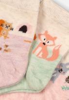 MINOTI - 3 pack ankle socks - pink