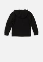 MINOTI - Teens hooded zip thru - black