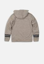 MINOTI - Boys hooded zip thru - grey
