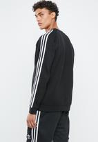 adidas Originals - 3-Stripes crew sweater - black & white