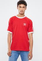 adidas Originals - 3-Stripes crew tee - red & white