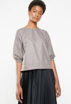 Superbalist - Poplin shell blouse - brown