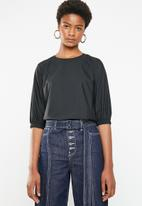 Superbalist - Poplin shell blouse - black