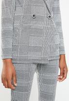 Superbalist - Knit blazer - black & grey