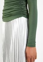 Superbalist - Ruched detail top - khaki green