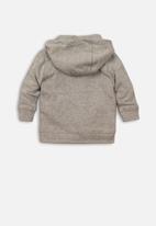 MINOTI - Baby boys hooded zip thru - grey
