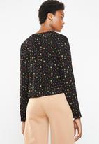 Superbalist - Boho button front blouse - black