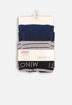 MINOTI - 3 pack boxer set - blue & grey