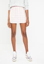 Missguided - Gingham mini skirt - pink & white