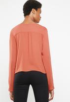 Superbalist - Boho button front blouse - rust
