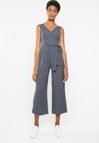 Superbalist - Rib knit jumpsuit - navy & grey