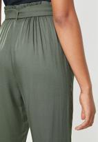 Superbalist - Paperbag straight leg - khaki green