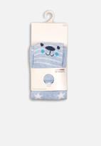 MINOTI - 2 Pack footless tight & socks with star - blue & white