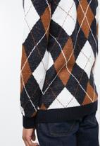 New Look - Argyle crew neck sweater - multi