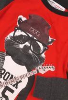 MINOTI - Meerkat long sleeve top - red & navy