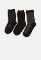 MINOTI - 3 pack ankle socks - black