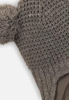 MINOTI - Infants knitted hat - grey marle