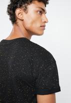 New Look - Spray wash short sleeve tee - black