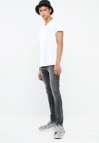 New Look - Dirty wash skinny jean - black