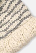 MINOTI - Knitted hat - white & grey