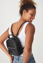 Cotton On - Cara mini crocodile print backpack - black