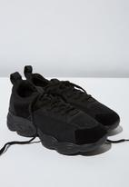 Cotton On - Faux suede combo chunky trainer - black