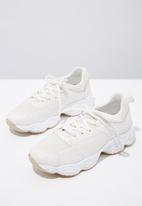 Cotton On - Faux suede combo chunky trainer - white