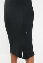 Superbalist - Press stud bodycon dress - black