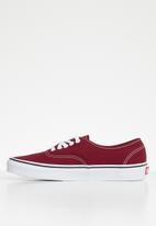 Vans - Vans authentic - rumba red & true white