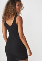 Cotton On - Rumi bodycon dress - black