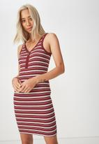Cotton On - Rumi bodycon stripe dress - multi