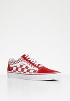 602622e791d Old skool - VA38G1VK5 - (mix checker) chili pepper   true white Vans ...