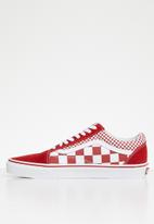 Vans - Old skool - mix checker chili pepper & true white