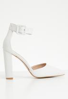 Superbalist - Farrah ankle strap heel - white